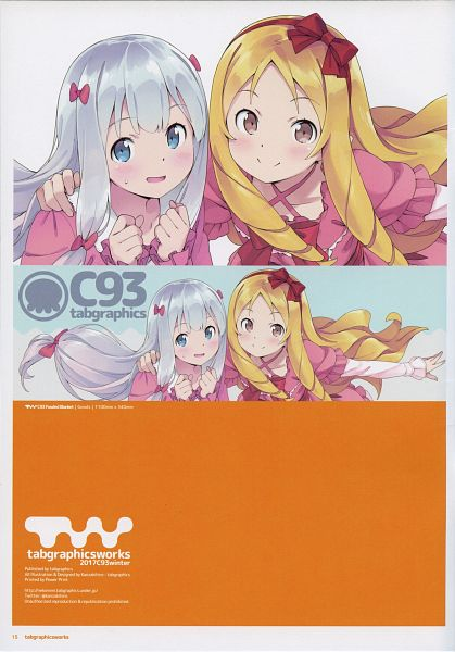Tags: Anime, Kanzaki Hiro, Eromanga Sensei, Yamada Elf, Izumi Sagiri, Official Art, Ero Manga Sensei - My Little Sister And The Locked Room