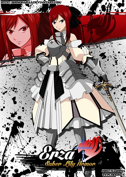 Tags: Anime, Shinoharaa, FAIRY TAIL, Erza Scarlet, Saber Lily (Cosplay), Fanart From DeviantART, Fanart, deviantART, Mobile Wallpaper