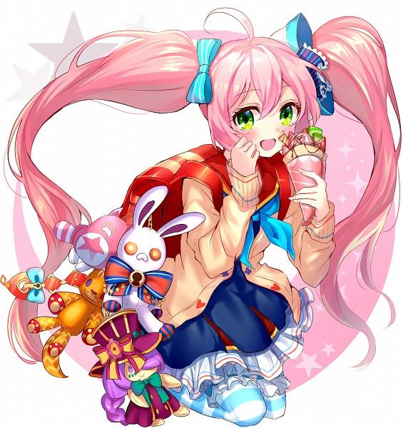 Tags: Anime, Satoimo Chika, Shironeko Project, Eshiria, Randoseru, PNG Conversion, Pixiv