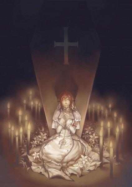 Tags: Anime, Pixiv Id 7263576, Trinity Blood, Esther Blanchett, Coffin, Pixiv, Fanart From Pixiv, Fanart