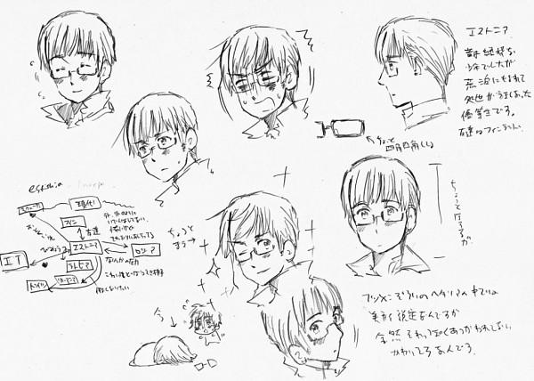 Tags: Anime, Himaruya Hidekaz, Axis Powers: Hetalia, Estonia, Official Art, Character Sheet, Soviet Union