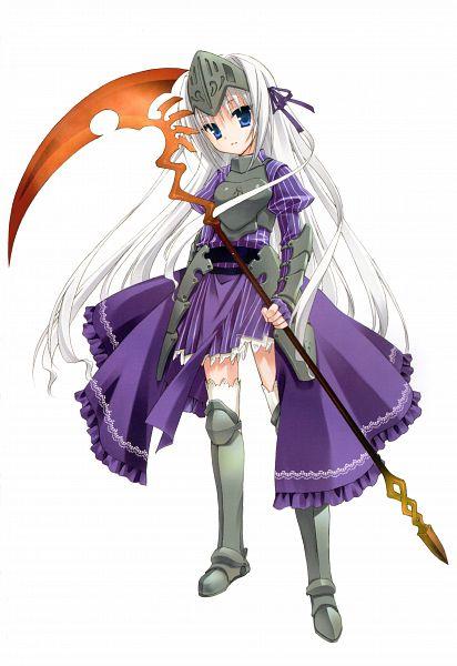 Tags: Anime, Kobuichi, Kore wa Zombie Desuka, Kore Wa Zombie Desuka? Kobuichi Muririn Art Works, Eucliwood Hellscythe, Official Art, Mobile Wallpaper, Scan