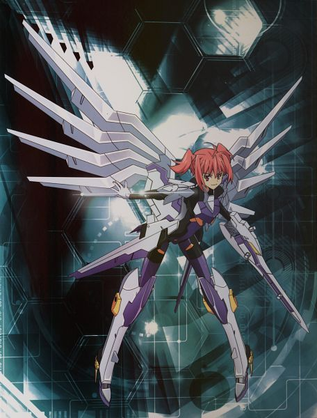 Tags: Anime, KONAMI (Studio), 8-bit (Studio), Busou Shinki, Eukrante, Mecha Musume, Scan, Official Art, DVD (Source)