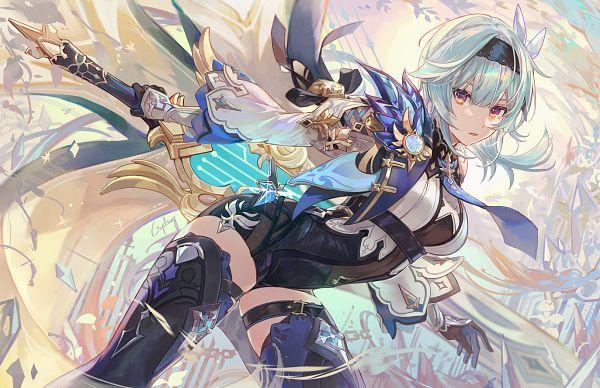 Tags: Anime, Csyday, Genshin Impact, Eula, Revision, Fanart From Pixiv, Pixiv, Fanart
