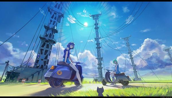 Tags: Anime, ArseniXC, Eureka Seven, Eureka, Power Lines, Scooter, Vespa, OS-tan, Google, Facebook Cover