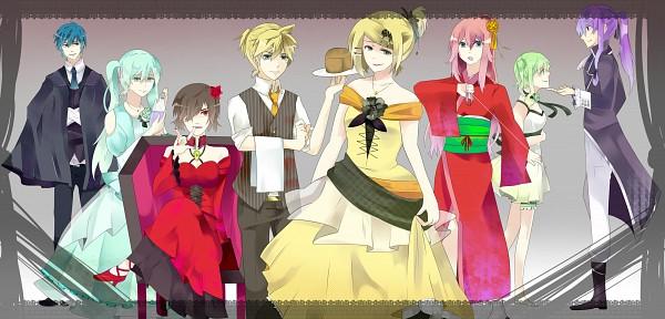 Tags: Anime, M Blue217, VOCALOID, Kagamine Len, Kamui Gakupo, Kagamine Rin, MEIKO (VOCALOID), Megurine Luka, Hatsune Miku, GUMI, KAITO, The Seven Deadly Sins (Mythology), Venomania no Ouyake no Kyouki