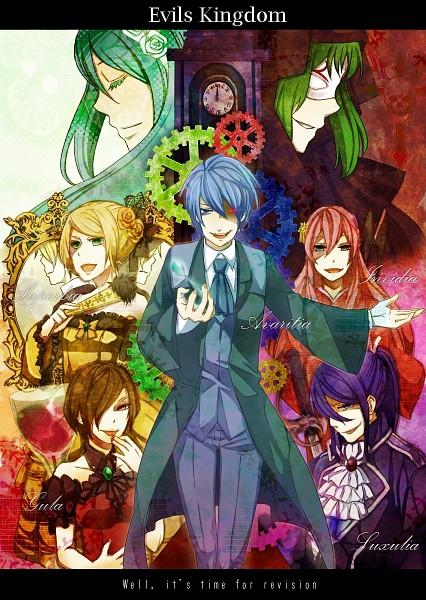 Tags: Anime, Pixiv Id 1734958, VOCALOID, Kagamine Rin, MEIKO (VOCALOID), Megurine Luka, Hatsune Miku, GUMI, KAITO, Kagamine Len, Kamui Gakupo, The Seven Deadly Sins (Mythology), Deadly Sins