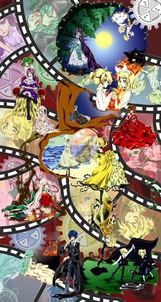 Tags: Anime, VOCALOID, Kamui Gakupo, Kagamine Len, Yowane Haku, Kagamine Rin, MEIKO (VOCALOID), GUMI, Megurine Luka, Hatsune Miku, KAITO, Enbizaka no Shitateya, Akuno-p