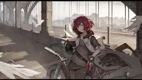 Tags: Anime, Pixiv Id 6117801, Arknights, Exusiai