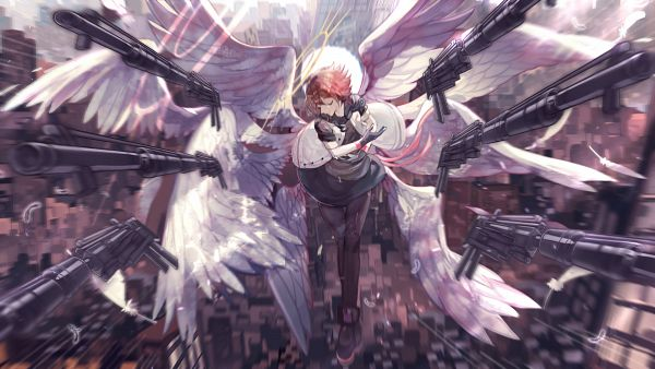 Tags: Anime, Pixiv Id 3749199, Arknights, Exusiai, Wallpaper, Fanart, Fanart From Pixiv, Pixiv