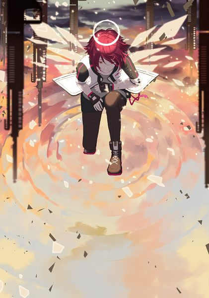 Tags: Anime, pinlin, Arknights, Exusiai, Fanart, Fanart From Pixiv, Pixiv