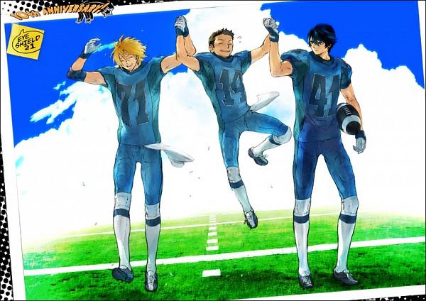 Tags: Anime, Pixiv Id 2155557, Eyeshield 21, Shun Kakei, Kengo Mizumachi, Kyoshin Poseidon, Pixiv, Fanart From Pixiv, Fanart