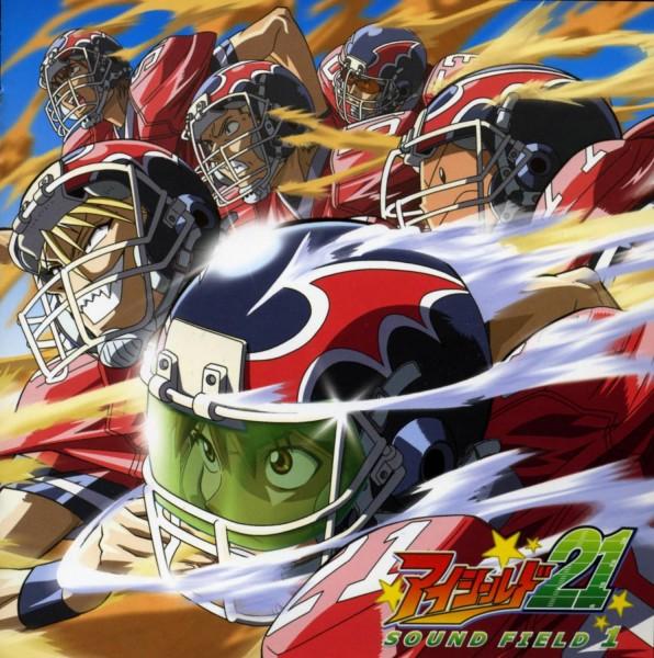 Tags: Anime, Eyeshield 21, Akaba Hayato, Kazuki Jumonji, Koji Kuroki, Hiruma Yoichi, Shozo Togano, Ryokan Kurita, Kobayakawa Sena, American Football, American Football Uniform, CD (Source), Scan