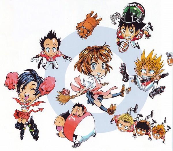 Tags: Anime, Eyeshield 21, Manabu Yukimitsu, Taki Suzuna, Anezaki Mamori, Hiruma Yoichi, Kobayakawa Sena, Koji Kuroki, Jumonji Kazuki, Shozo Togano, Daikichi Komusubi, Ryokan Kurita