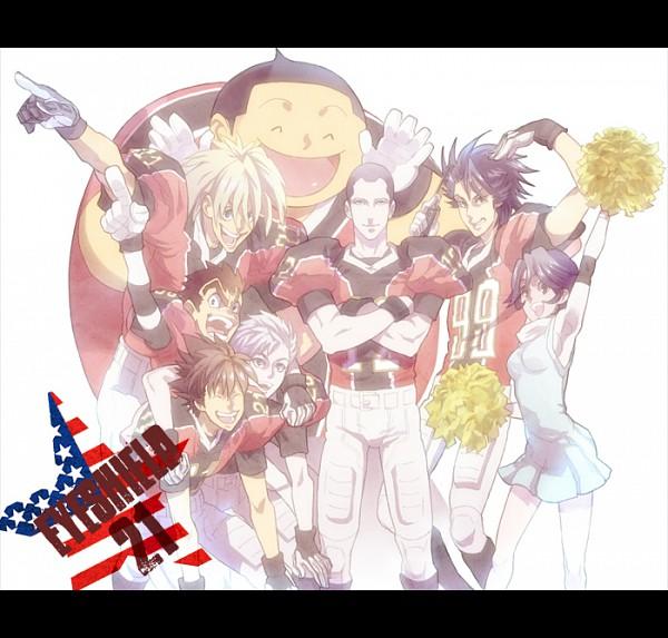 Tags: Anime, Pixiv Id 376671, Eyeshield 21, Raimon Taro, Kengo Mizumachi, Kaitani Riku, Kotaro Sasaki, Taki Suzuna, Kobayakawa Sena, Kongo Unsui, Ryokan Kurita, Pixiv