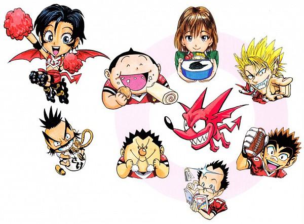 Tags: Anime, Eyeshield 21, Daikichi Komusubi, Raimon Taro, Manabu Yukimitsu, Taki Suzuna, Anezaki Mamori, Hiruma Yoichi, Doburoku Sasaki, Ryokan Kurita, Roller Skates, Deimon Devil Bats