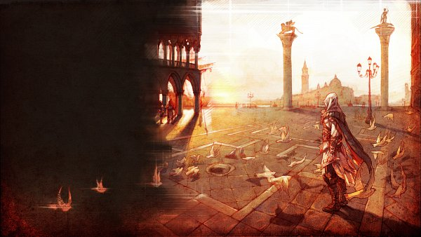 Tags: Anime, Tervola, Assassin's Creed II, Ezio Auditore Da Firenze, deviantART, Wallpaper