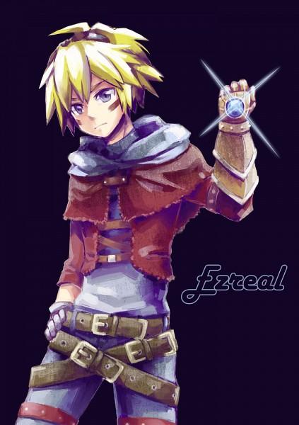 Tags: Anime, Pixiv Id 1292141, League of Legends, Ezreal, Mobile Wallpaper, Pixiv, Fanart, Fanart From Pixiv