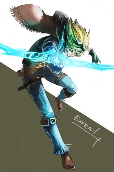 Tags: Anime, LaCi, League of Legends, Ezreal, Fanart, Fanart From Pixiv, Mobile Wallpaper, Pixiv