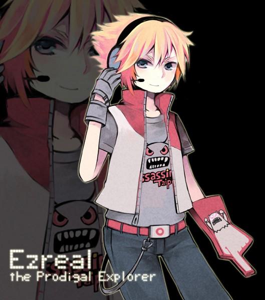 Tags: Anime, Konatsu Miyu, League of Legends, Ezreal, Gray Handwear, Fanart