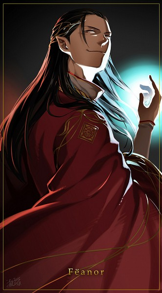 Tags: Anime, Cyancrown, The Lord of the Rings, Fëanor, Tumblr, Mobile Wallpaper, House of Fëanor