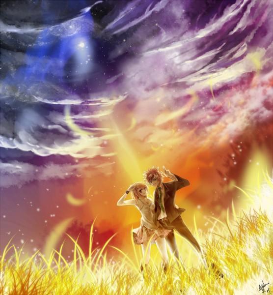Tags: Anime, Achiba, FAIRY TAIL, Loki (FAIRY TAIL), Lucy Heartfilia, Camisole, Fanart, deviantART, LoLu, Celestial Spirits