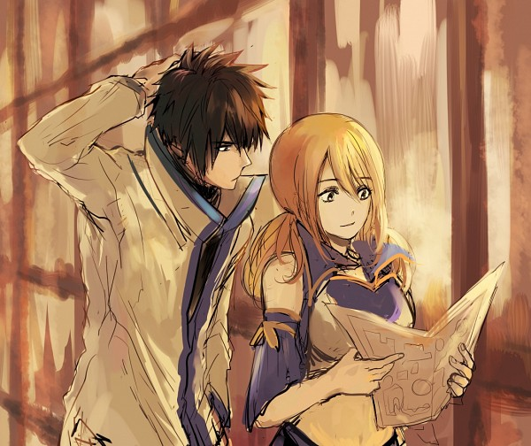 Tags: Anime, Turtlequeen, FAIRY TAIL, Lucy Heartfilia, Gray Fullbuster, PNG Conversion