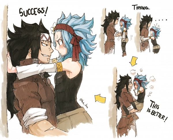 Tags: Anime, Rusky-boz, FAIRY TAIL, Gajeel Redfox, Levy McGarden, PNG Conversion, Fanart, Tumblr, Gajevy