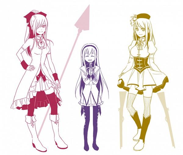 Tags: Anime, Pixiv Id 1117720, FAIRY TAIL, Wendy Marvell, Erza Scarlet, Lucy Heartfilia, Sakura Kyouko (Cosplay), Tomoe Mami (Cosplay), Akemi Homura (Cosplay), Pixiv