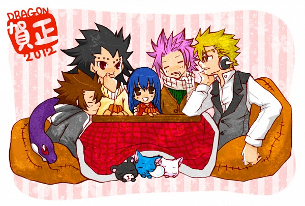 Tags: Anime, Pixiv Id 2698602, FAIRY TAIL, Natsu Dragneel, Kinana, Gajeel Redfox, Cobra (FAIRY TAIL), Laxus Dreyar, Charle, Wendy Marvell, Happy (FAIRY TAIL), Pantherlily, Kotatsu