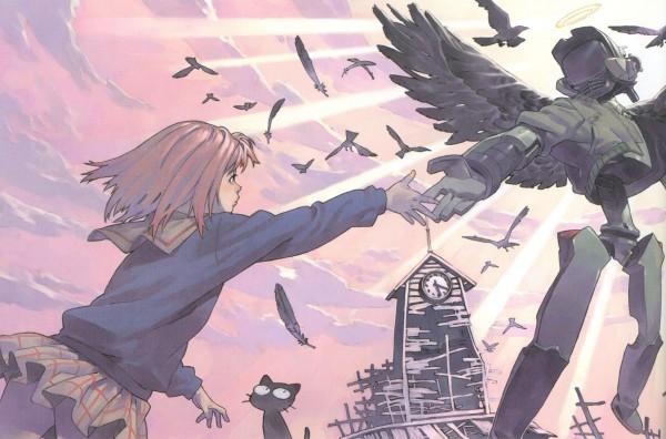 Tags: Anime, Yoshinari Yoh, FLCL, Takkun, Samejima Mamimi, Canti, Scan, Official Art