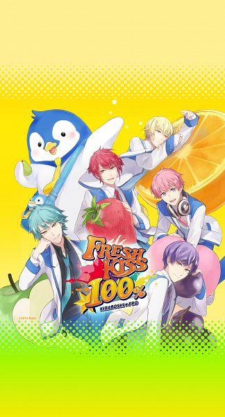 Tags: Anime, Rahwia Kim, Rejet, FRESH KISS 100%, Luka Blood, Mutsu Soura, Atago Hikaru, Amaou Lion, Hakuhou Ikuto, Takao Aoba, Bird Costume, Pear, Peach (Fruit)