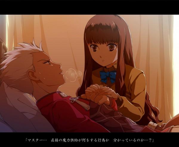 Tags: Anime, Tetsukuzu Tetsuko, Fate/EXTRA, Female Protagonist (Fate/EXTRA), Archer (Fate/stay night), Fanart, Pixiv, Translated