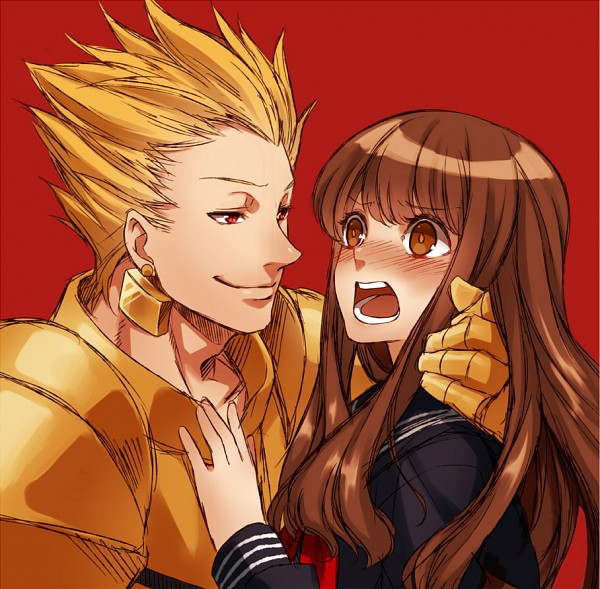 Tags: Anime, Pixiv Id 1095951, Fate/EXTRA, Fate/EXTRA CCC, Gilgamesh, Female Protagonist (Fate/EXTRA), Rage Comics, Troll Face, Pixiv, Fanart From Pixiv, Fanart