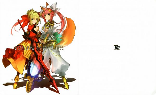 Fate/EXTRA material - WADARCO Illustrations - Fate/EXTRA