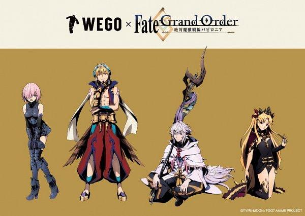 Tags: Anime, CloverWorks, Fate/Grand Order: Zettai Majuu Sensen Babylonia, Fate/Grand Order, Caster (Gilgamesh), Merlin (Fate/stay night), Shielder (Fate/Grand Order), Tohsaka Rin, Lancer (Ereshkigal), Gilgamesh, Text: Brand Name, Twitter, Official Art