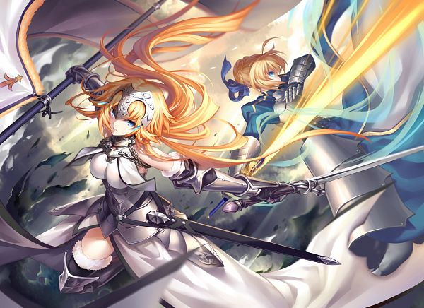 Tags: Anime, Kousaki Rui, Fate/Grand Order, Joan of Arc (Fate/Apocrypha), Saber (Fate/stay night)