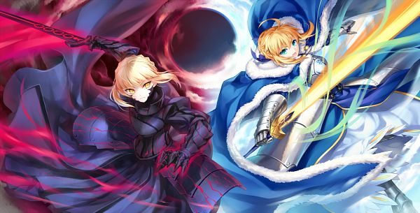 Tags: Anime, Kousaki Rui, Fate/Grand Order, Saber Alter, Saber (Fate/stay night), Facebook Cover
