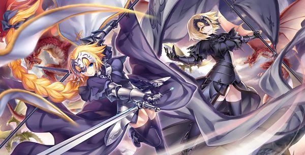 Tags: Anime, Kousaki Rui, Fate/Grand Order, Joan Alter, Joan of Arc (Fate/Apocrypha), Facebook Cover