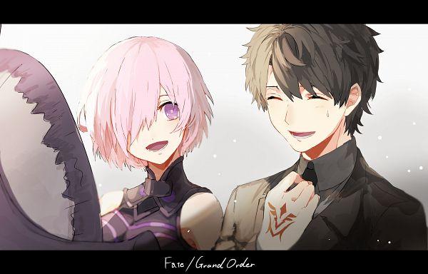 Tags: Anime, Pixiv Id 2700623, Fate/Grand Order, Ritsuka Fujimaru, Shielder (Fate/Grand Order), Command Seal, Lord Camelot, PNG Conversion