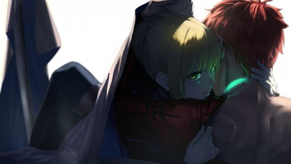 Tags: Anime, Tn7135, Fate/Grand Order, Emiya Shirou, Saber (Sengo Muramasa), Saber (Fate/stay night), Saber Alter, Fanart From Pixiv, PNG Conversion, Wallpaper, Facebook Cover, Fanart, Pixiv