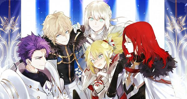Tags: Anime, Suou, Fate/Grand Order, Archer (Tristan), Saber (Gawain), Saber (Lancelot), Bedivere (Fate/stay night), Red Saber, Fanart From Pixiv, Fanart, Pixiv, Facebook Cover