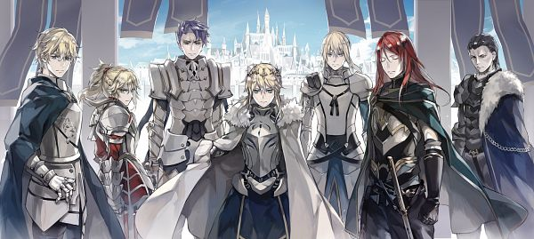Tags: Anime, Pixiv Id 14618569, Fate/Grand Order, Archer (Tristan), Saber (Gawain), Lancer (Artoria Pendragon), Bedivere (Fate/stay night), Saber (Lancelot), Agravain (Fate/Grand Order), Red Saber, Saber (Fate/stay night), Knight, King
