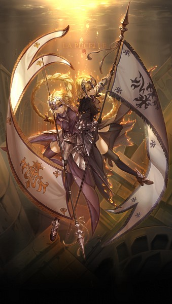 Tags: Anime, Pixiv Id 1200836, Fate/Grand Order, Joan of Arc (Fate/Apocrypha), Joan Alter, La Grondement Du Haine, Luminosité Eternelle, Holding Flag, PNG Conversion, Pixiv, Fanart, Mobile Wallpaper, Fanart From Pixiv