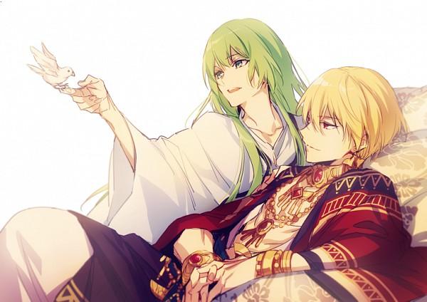 Tags: Anime, ryugo, Fate/Grand Order, Lancer (Fate/strange fake), Gilgamesh, Fanart