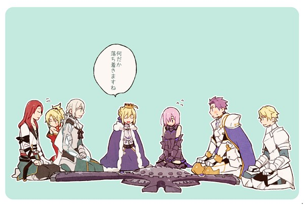 Tags: Anime, Pixiv Id 1515027, Fate/Apocrypha, Fate/EXTRA, Fate/Grand Order, Fate/stay night, Saber (Lancelot), Saber (Fate/stay night), Shielder (Fate/Grand Order), Saber (Gawain), Red Saber, Bedivere (Fate/stay night), Archer (Tristan)