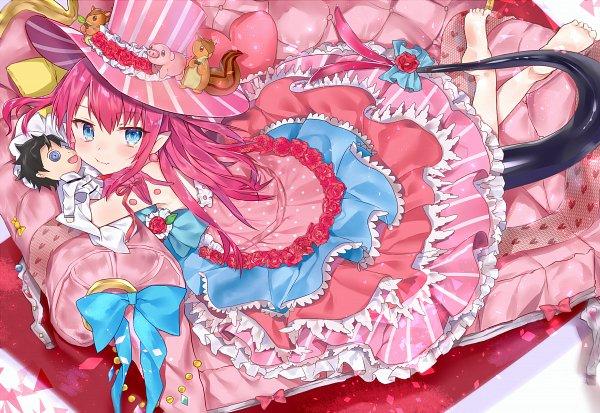 Tags: Anime, Nana Kagura, Fate/Grand Order, Lancer (Fate/EXTRA CCC), Ritsuka Fujimaru, Hugging Doll, Fanart From Pixiv, Pixiv, Fanart