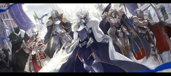 Tags: Anime, Pixiv Id 1781787, Fate/Grand Order, Red Saber, Archer (Tristan), Saber (Fate/stay night), Lancer (Artoria Pendragon), Saber (Gawain), Saber (Lancelot), Agravain (Fate/Grand Order), Excalibur Galatine, King, Rhongomyniad