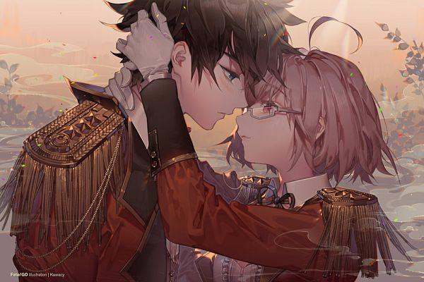 Tags: Anime, kawacy, Fate/Grand Order, Shielder (Fate/Grand Order), Mash Kyrielight, Ritsuka Fujimaru, Pixiv, Fanart, Fanart From Pixiv