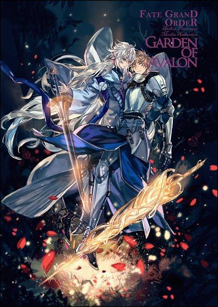 Tags: Anime, Dith Ytk, Fate/Grand Order, Saber (Fate/Prototype), Merlin (Fate/stay night), Excalibur Proto, Rhongomyniad